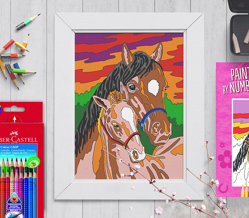 paint_by_numbers_horses_wall
